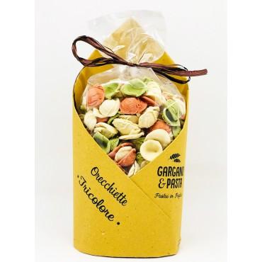 Orecchiette Pugliesi Tricolore - Edizione Speciale - Gargano&Pasta - 500gr