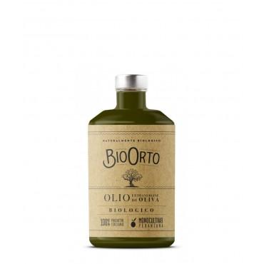 BioOrto - Olio Extravergine di Oliva 100% Italiano Biologico - 500ml