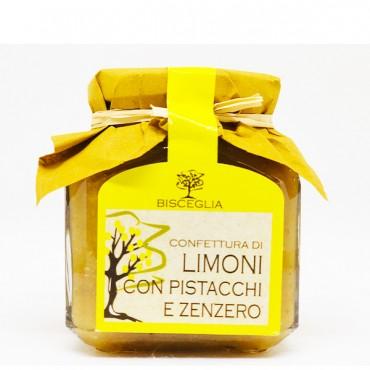 Confettura di Limoni con Pistacchio e Zenzero - Bisceglia - 330gr